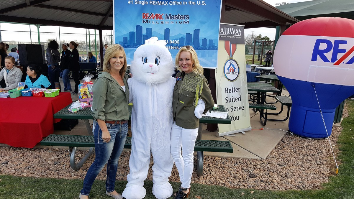Joanne Toledo Sponsors Breakfast With Bunny at Buckley Air Force Base