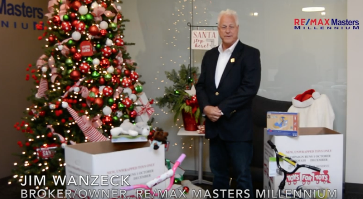 Jim Wanzeck #remaxmastersmillennium Homes for Heroes Program and #toysfortots