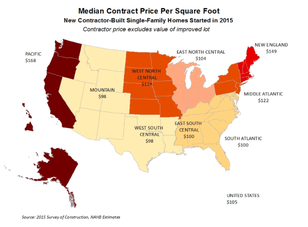 Sale and Contract Prices per Square Foot in 2015