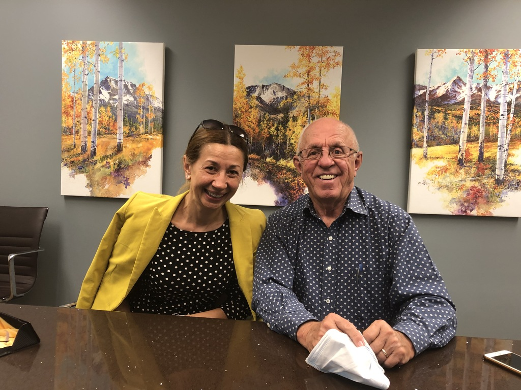 Happy sellers and buyers in Denver Tech Center